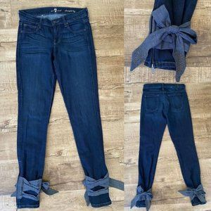 7 For All Mankind Ankle Wrap Straight Leg Jeans 26